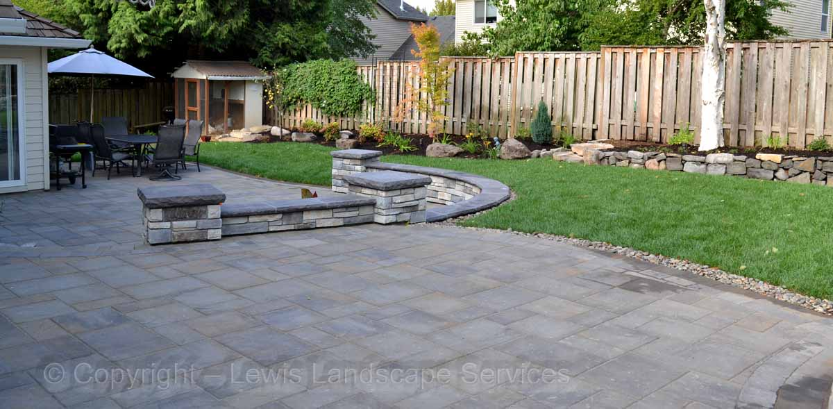Upper & Lower Paver Patios, Seat Walls, Landscaping