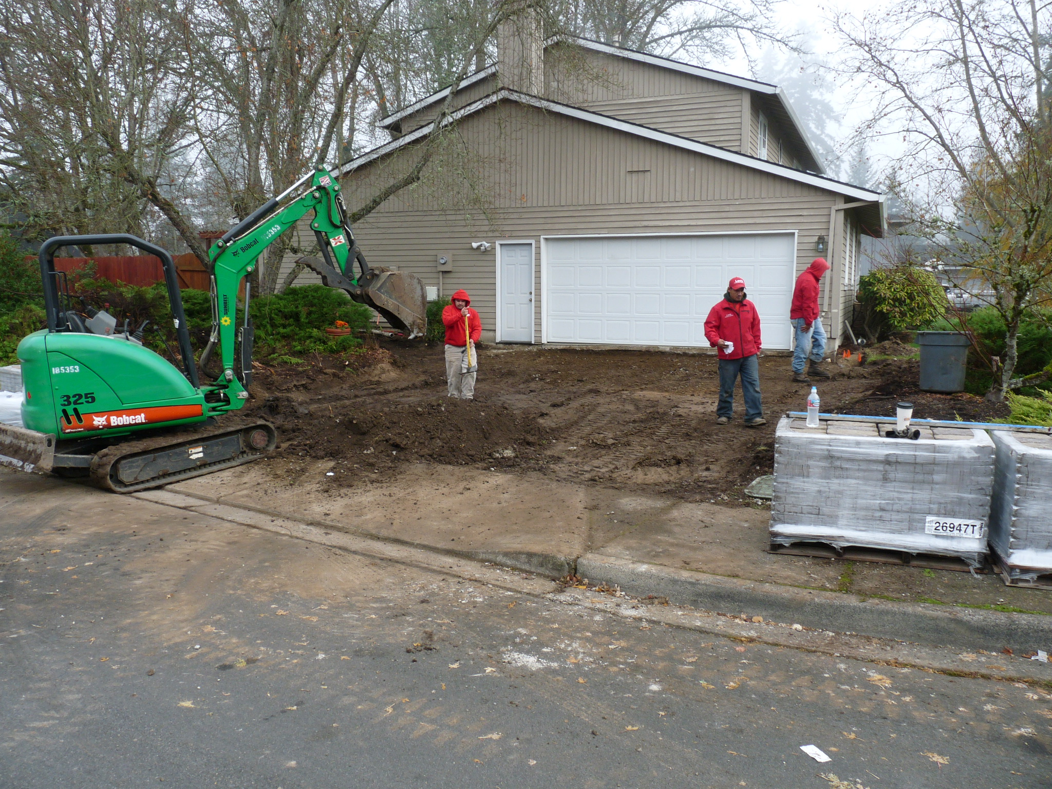 Excavation Stage of Paver Driveway