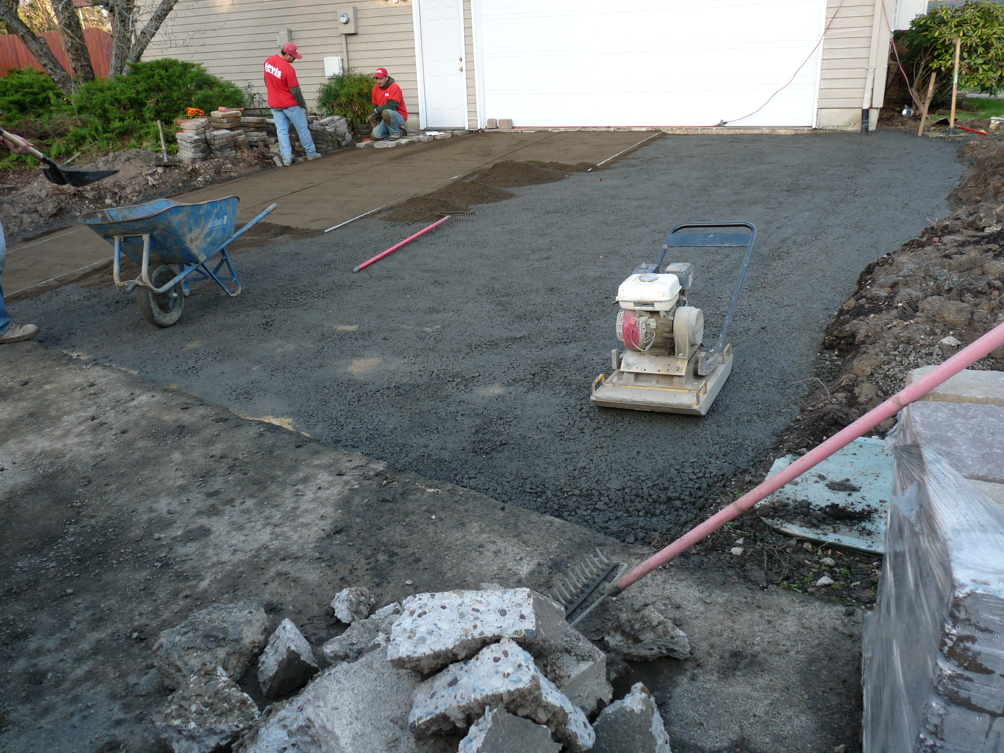 Preparing the Base for Paver Driveway