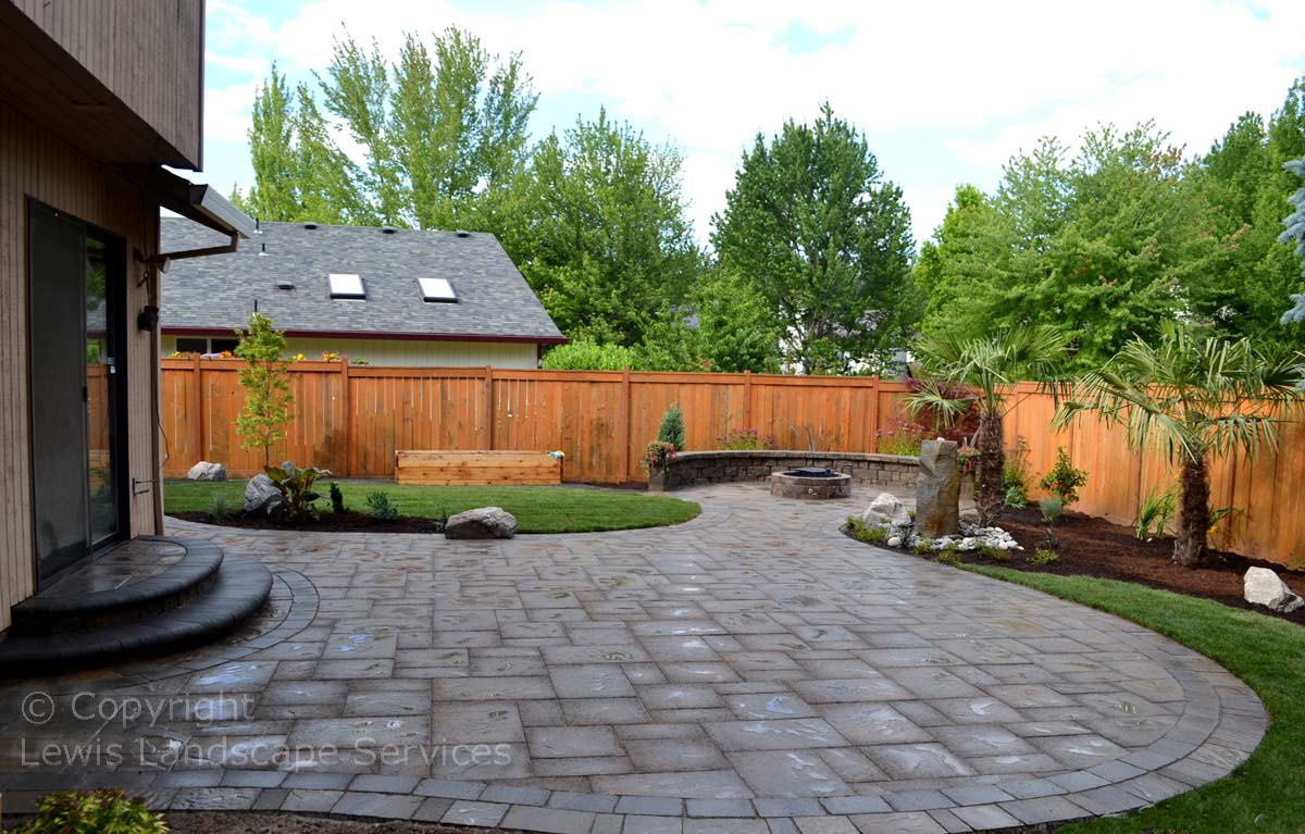 Overall Photo of Outdoor Living Space & Landscape Installation