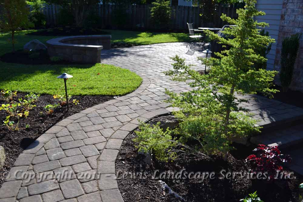 Paver Patio, Pathways, Seat Wall, Landscaping