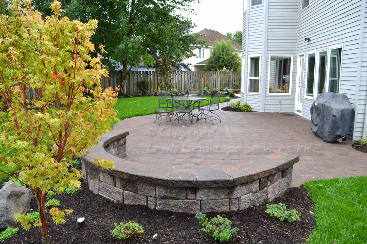 Paver Patio, Seat Wall, Landscaping