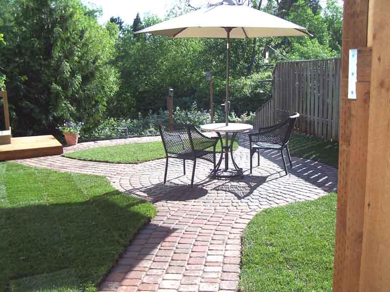 Small Paver Patio, Sod Lawn