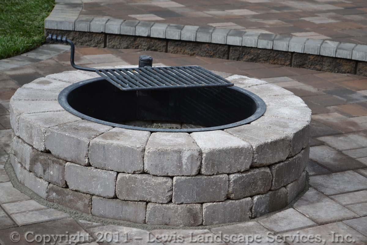 Close-up of Wood Burning Fire Pit