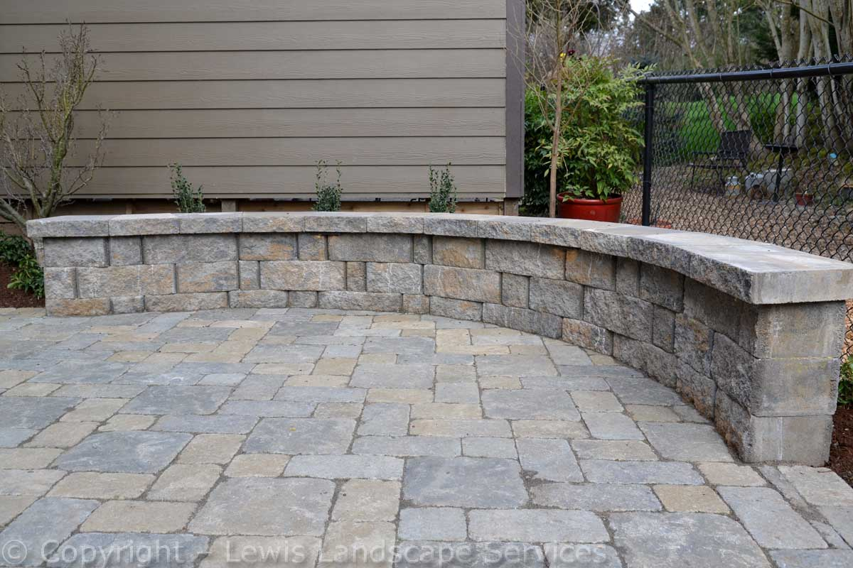 Seat Wall at Edge of Paver Patio