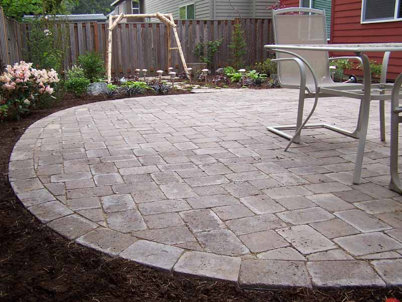 Simple and Small Paver Patio