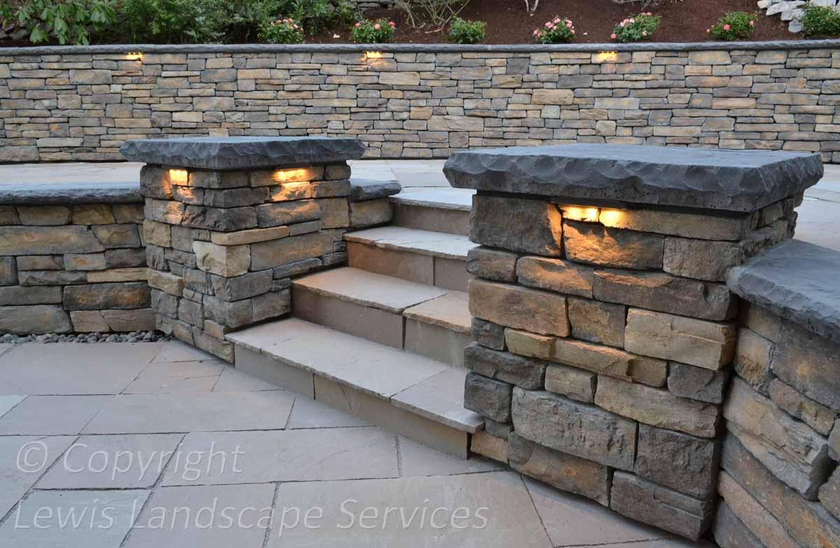 Stone Pavers, Columns, Steps