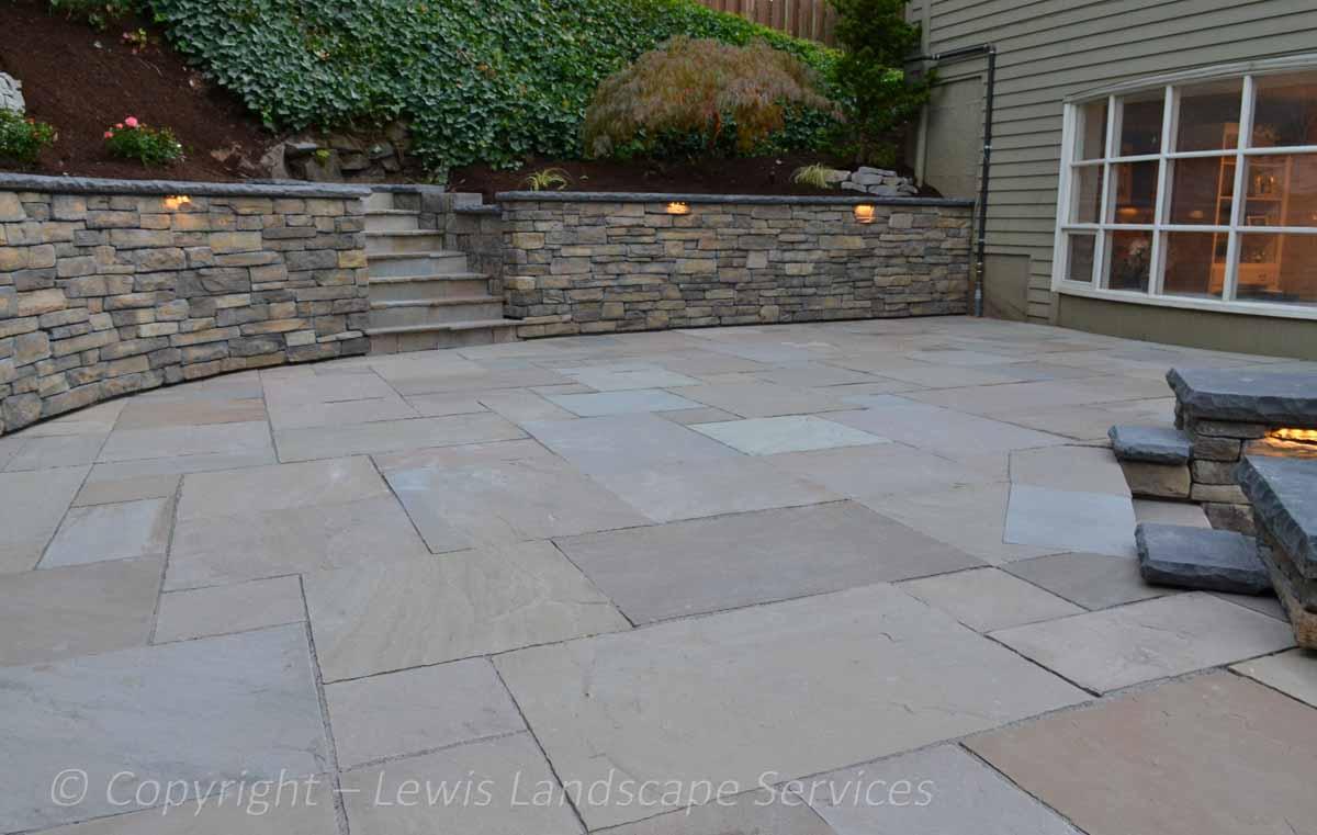 Stone Patio, Stone Walls
