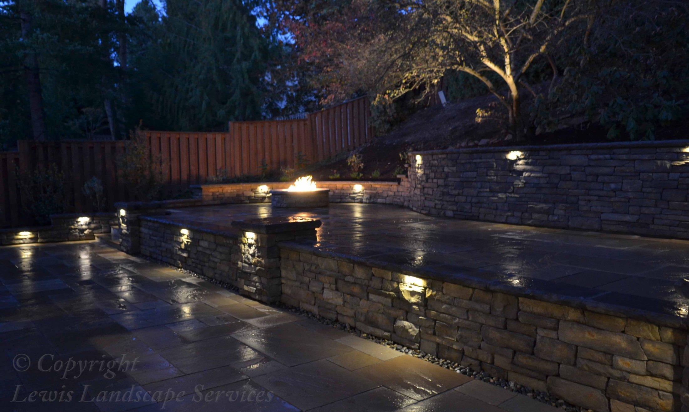 Walls with Night Lighting