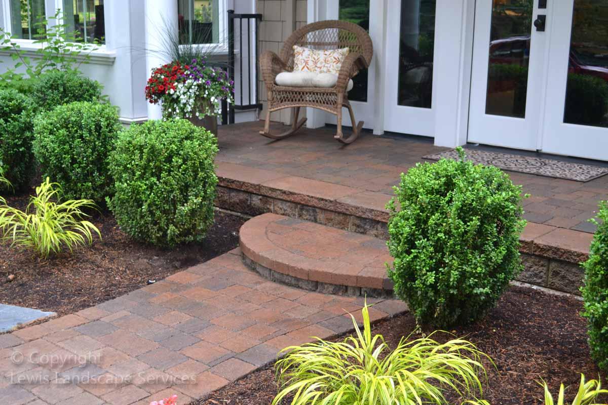 Paver Pathway, Step & Patio, Front Door
