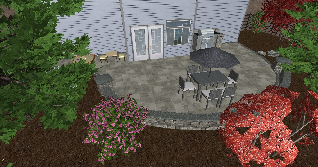 3D Rendering of Patio Before Installation