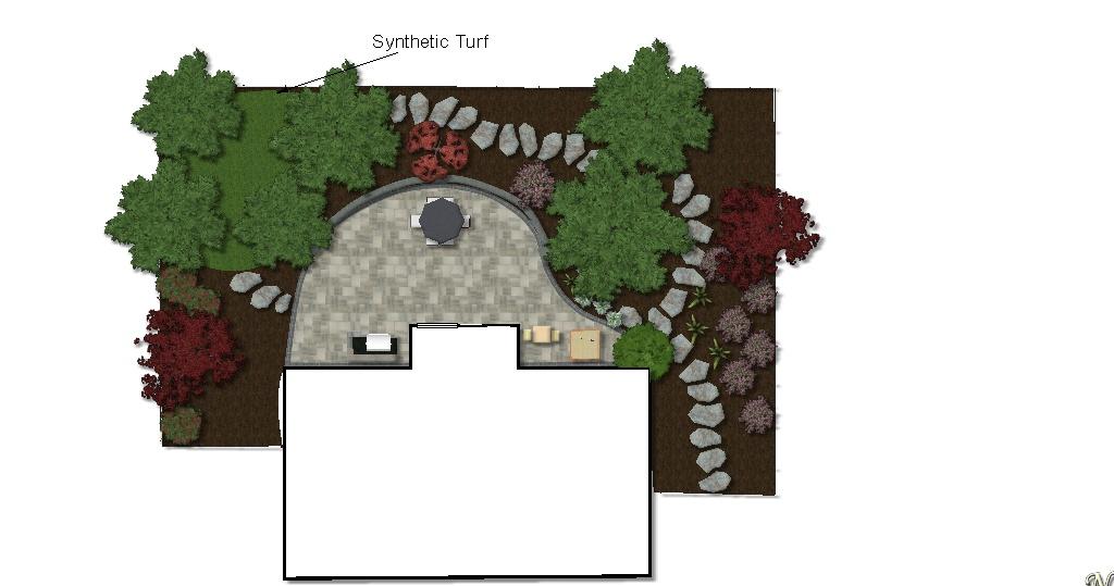 Landscape Design Plan - 2D Plant View