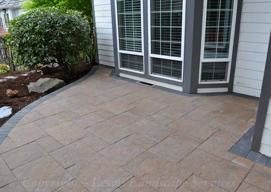 Section of Paver Patio