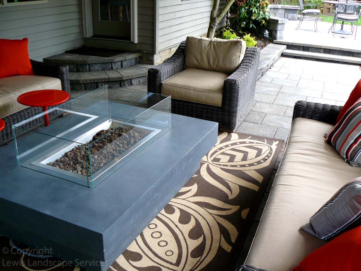 Paver Patios, Gas Fire Table