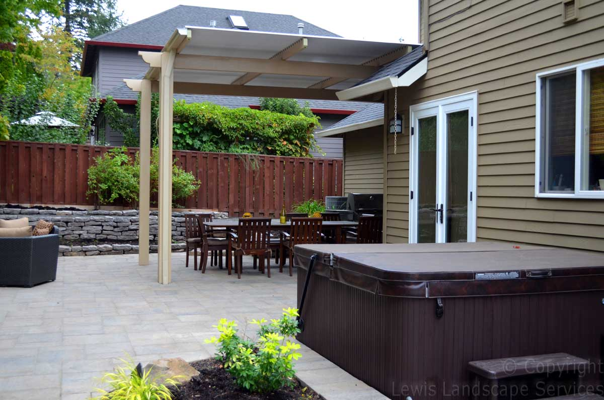 Overall Pic of Patio & Walls