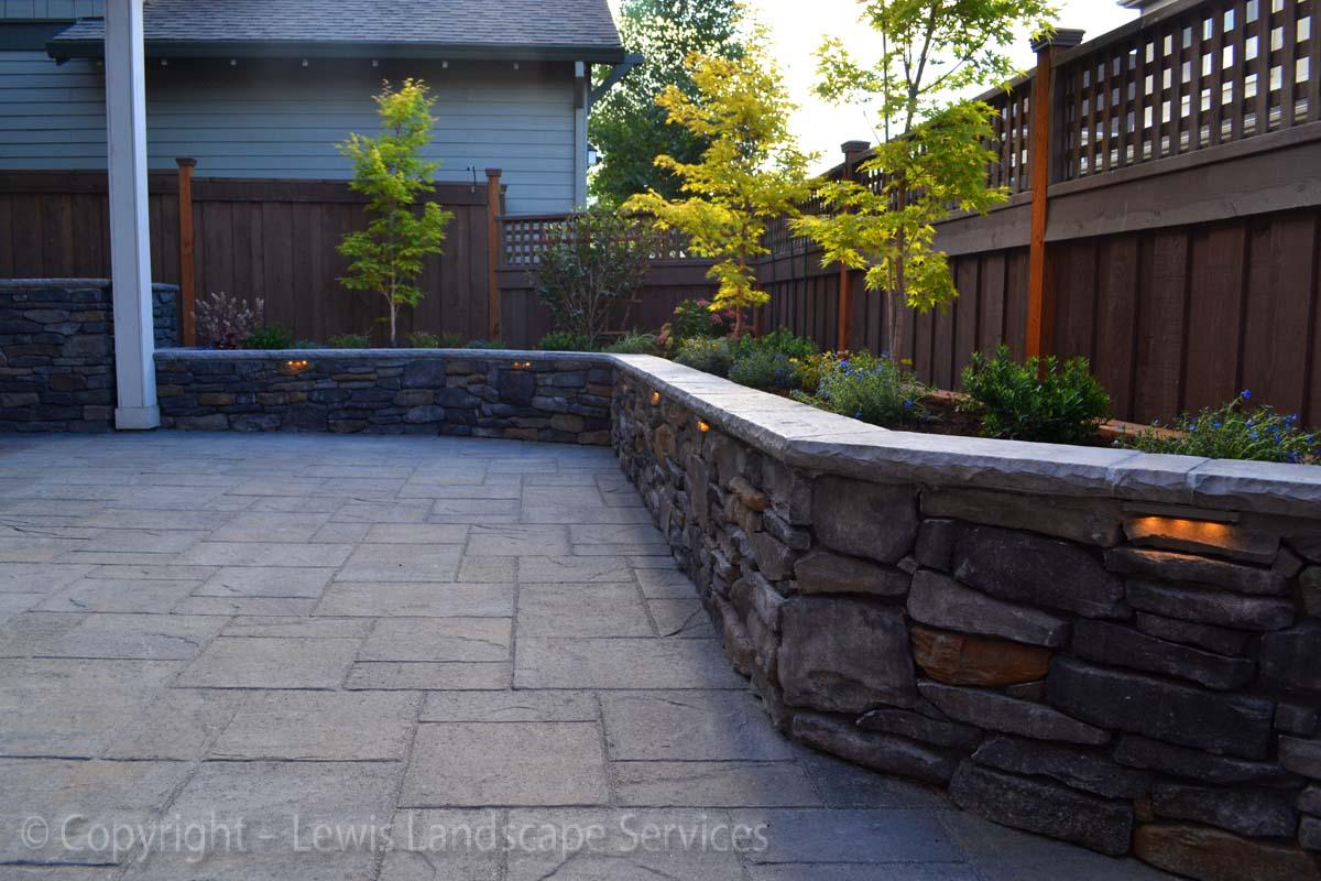 Seat-walls-courtyard-walls-columns-patel-project-summer-2013 001