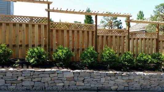 Cedar Good Neighbor Fence, Lattice Top & Custom Arbors in Beaverton