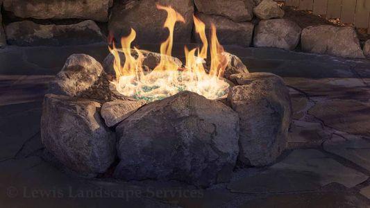 Custom Rock Gas Fire Pit