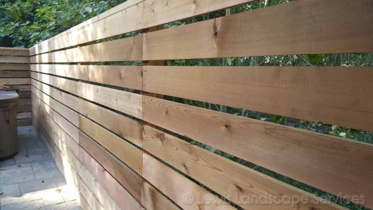 Horizontal Style Cedar Fence we built in Tigard, Oregon area - fence builders