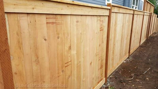 Solid Style Cedar Fence we installed in Portland, OR - Fence Builder