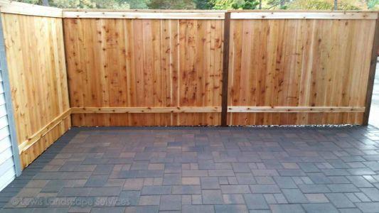 Shadowbox Cedar Style Fence we built in Beaverton Oregon - fence installation company