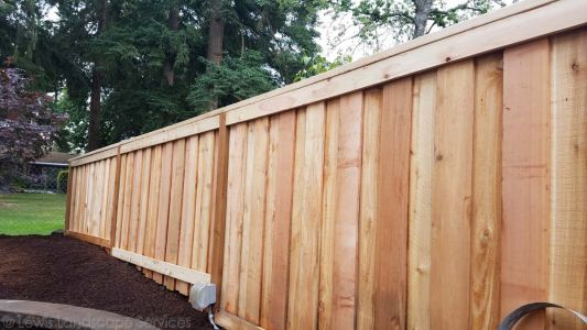 ShadowBox Style Fence we installed in Portland Oregon - Fence Installers