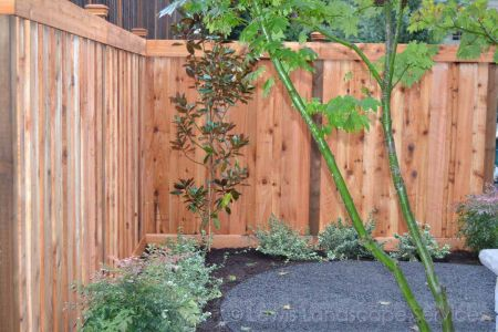 Shadowbox Style Fence we built in Beaverton Oregon - fence installation company