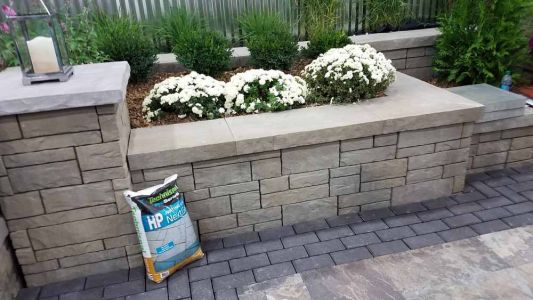 Seat Walls Made with Tandem Wall By Belgard© | Lewis