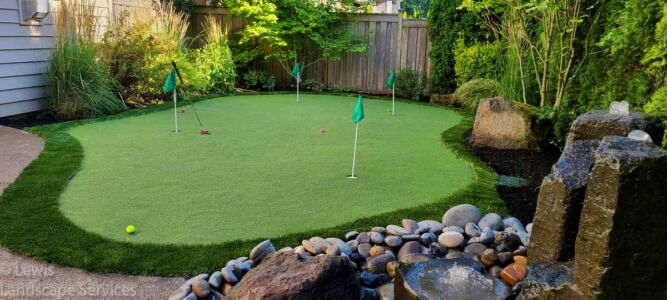 Putting Green Installation Tualatin Oregon