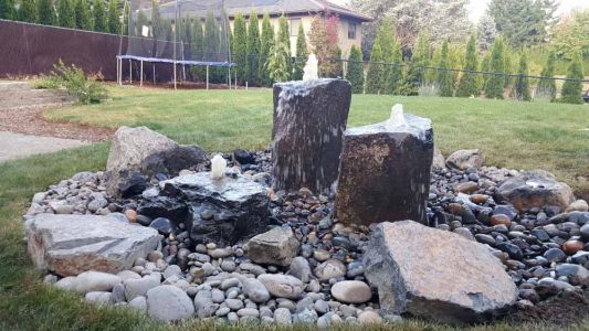 Three Rock Rock Bubbler Fountain