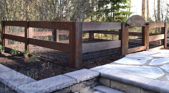 Custom Rabbit-Proof Garden Fence we fabricated and built at a jobsite in Beaverton, Oregon - fence installers