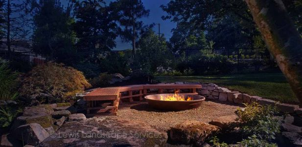 Cast Iron Fire Pit, Partially Buried (Wood Burning)