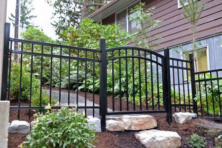 Entrance to Back Yard - Iron Fence & Gate