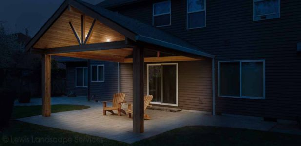 Outdoor Structure - Open Gable - Night Time