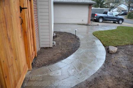 Pathway & Porch Made with Stone Pavers by Marshall's