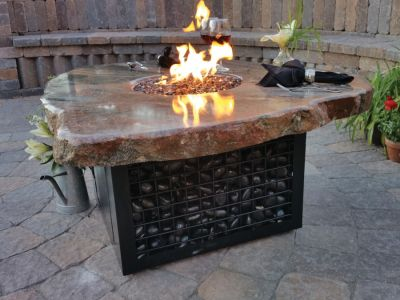 Propane Gas Stone Fire Table