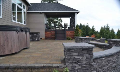 Side view of Upper Paver Patio