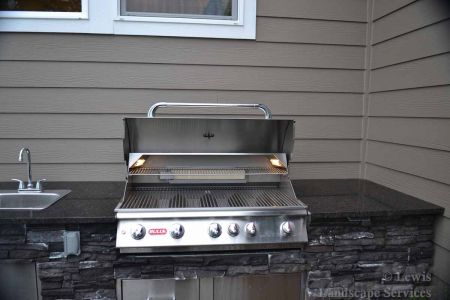 Close-up of Built In BBQ Grill within Outdoor Kitchen