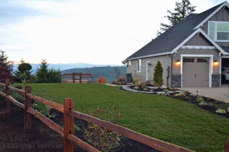 Counrty Farm Farmhouse Style Split Rail Fence Installation in Hillsboro OR - Fence Installers