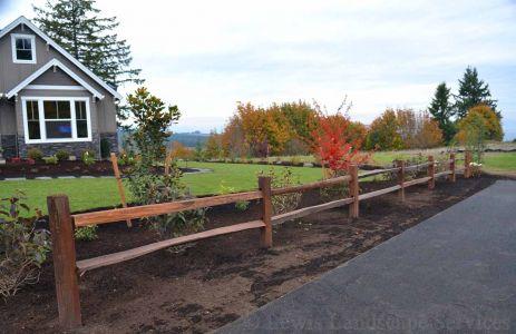Counrty Farm Farmhouse Style Split Rail Fence Installation in Hillsboro Oregon - Fence Installers