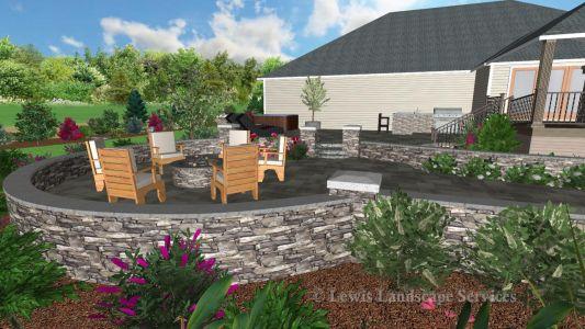 Landscape Design - Perspective View 6