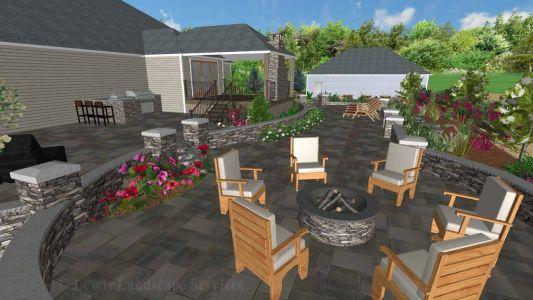 Landscape Design - Perspective View 1