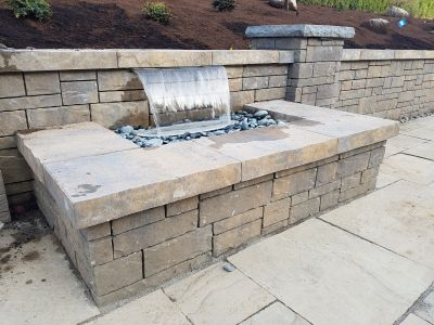 Colorfalls - Waterfall Built Into Retaining Wall