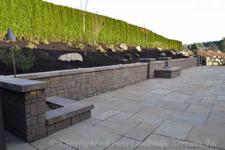 Seating Wall / Seat Wall - Using Belgard Tandem Wall Block