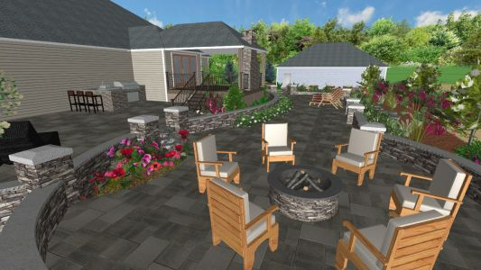 3D View of Landscape Design for Job we completed in 2019 in Hillsboro