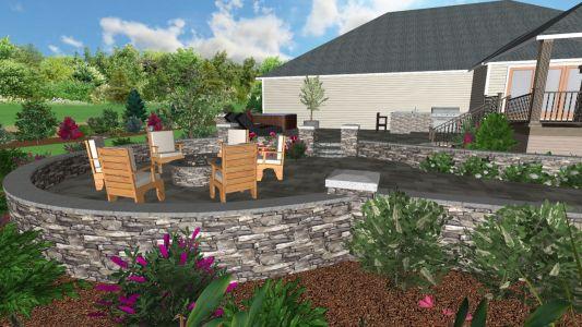 3D Landscape Design from Job We Completed in 2019 in Hillsboro - Landscape Designer
