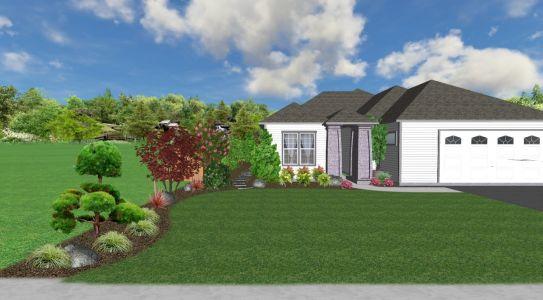 3D View of Landscape Design for Job we completed in Feb. 2018 in Wilsonville, Oregon