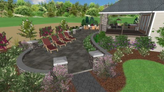 3D Landscape Design from Job We Completed in 2019 in Hillsboro