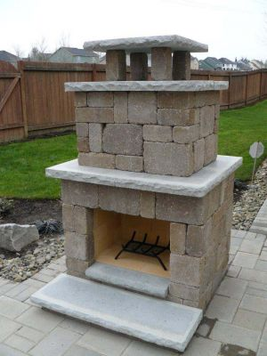 Block Wood Burning Fireplace