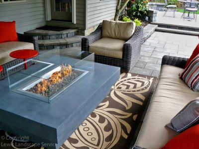Natural Gas Fire Table